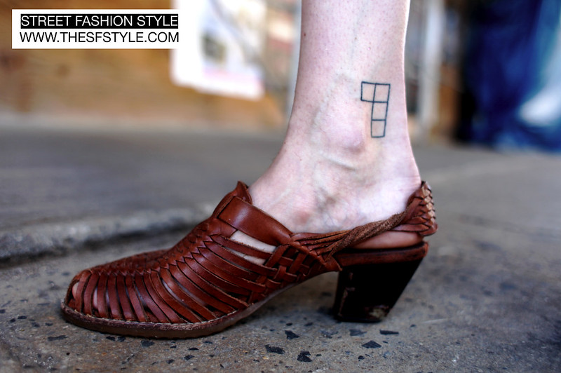 Tetris3 tetris tattoo, tatoos, tetris, street fashion style, new york, nyc, huaraches, vintage, woven belt,