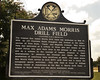 The Max Adams Morris Drill Field historic marker.