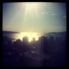 English Bay, as seen from the Skate Canada AGM. (Seriously.)