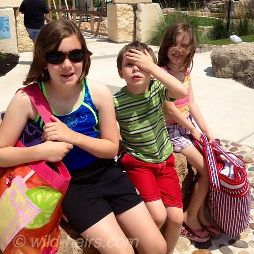 McKinley, Jasper, Cordelia at Quarry Splash Pad in Leander, TX