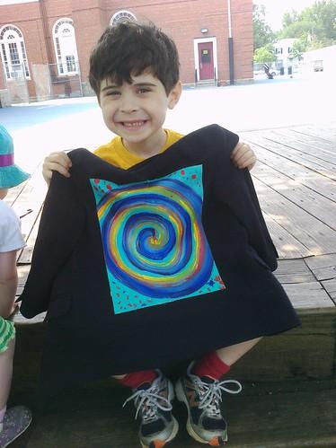 """Rainbow Spiral"" Jonah Daniel's Jacket"