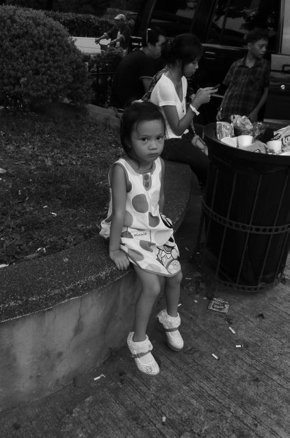 Little girl at the funeral home.