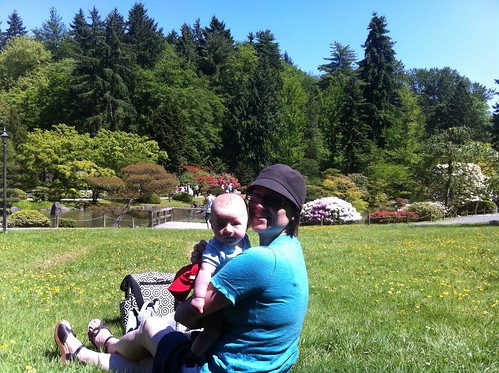 Franklin and Mom at the Japanese Garden 2