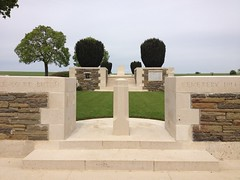 British WW1 cemetery at Beaulencourt (France 2012)