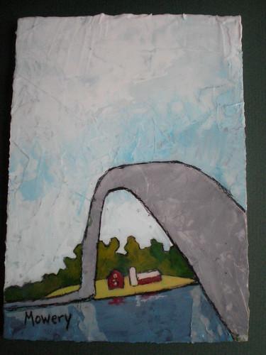 Solomons bridge, acrylic, Barbara Mowery 2012