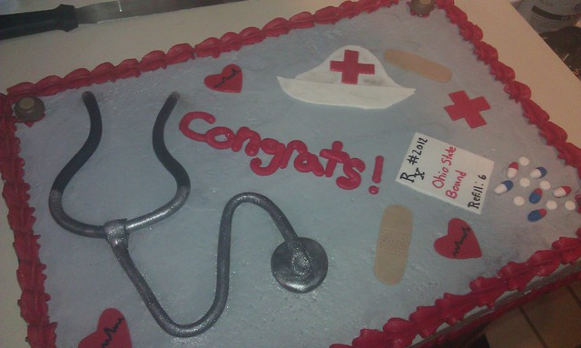 Cake Decorating Medical Theme : Medical Theme Grad cake Flickr - Photo Sharing!