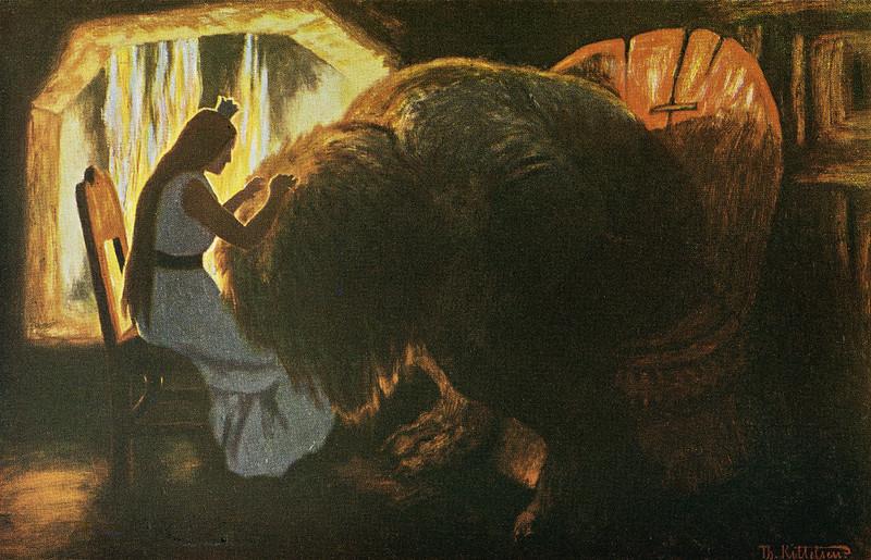 Theodor Kittelsen - Prinsessen lysker trollet, 1900