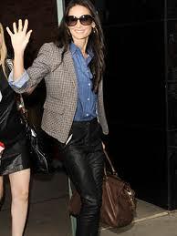 Demi Moore Denim Shirt Celebrity Style Woman's Fashion