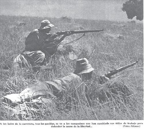 Milicianos en el frente Córdoba