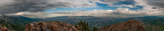 Salt Lake Valley, from Mt. Olympus