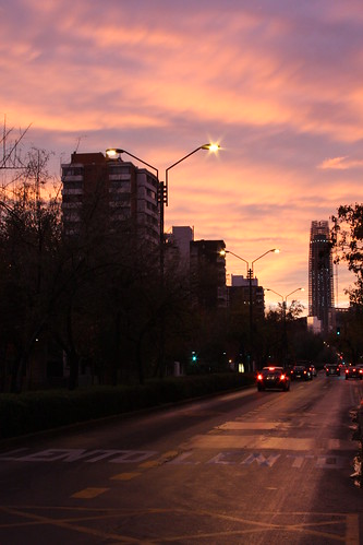 Costanera Center sunset