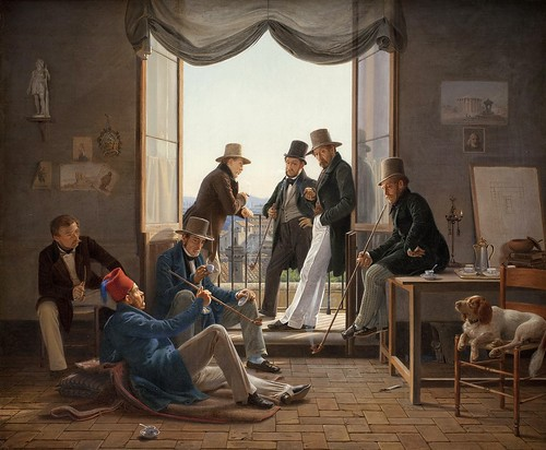 Constantin Hansen - Group of Danish Artists in Rome [1837] by Gandalf's Gallery