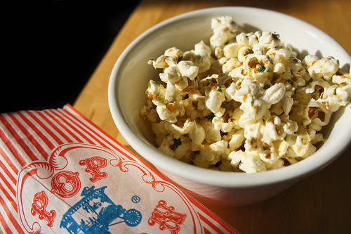 Garlic Truffled Popcorn! The Best!