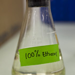 April 17, 2012 - 11:24am - This beaker contains pure ethanol generated from cellulosic plant material.Photo by Matthew Wisniewski, GLBRC. Licensed  under Creative Commons CC BY-NC-ND 2.0.