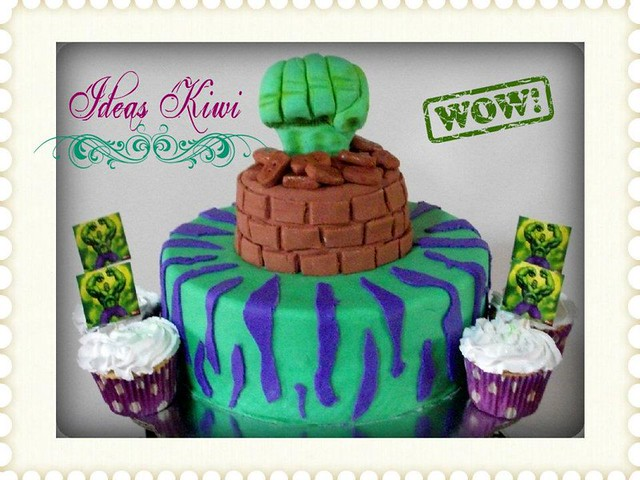Hulk Cupcake Ideas http://www.flickr.com/photos/ideaskiwi/7365606322/
