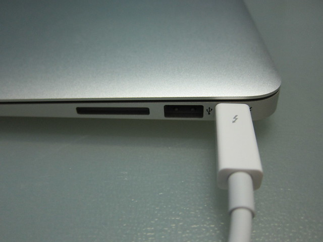 Apple Thunderbolt to Gigabit Ethernet Adapter - Plugged To The MacBook Air