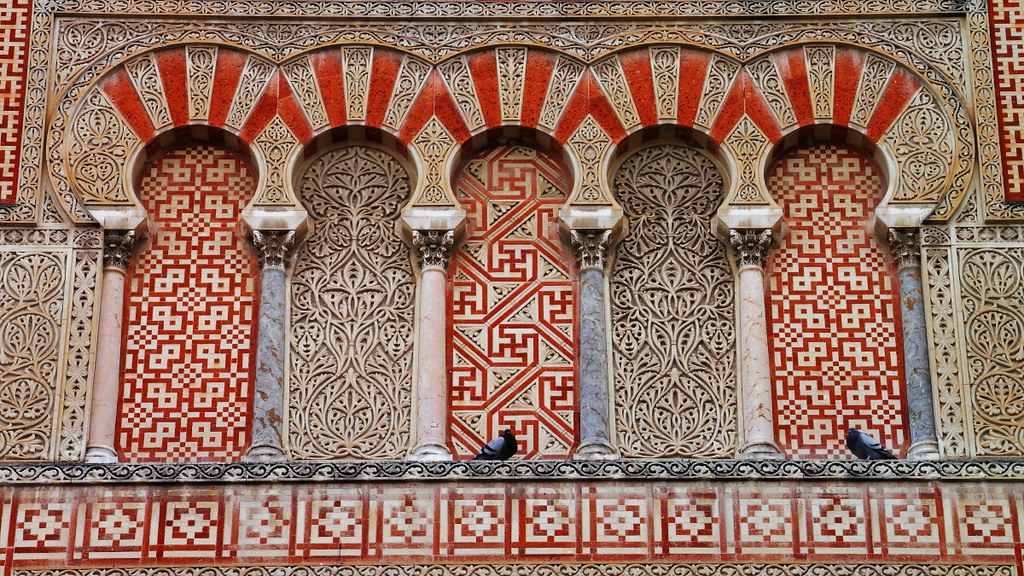 The Mosque and the pigeons, Córdoba, Spain