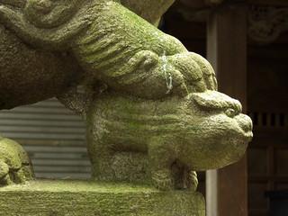 Image of 神明大神宮 near Hachiōji. 神社 jinja komainu 狛犬