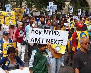 End Stop and Frisk: 6/17/2012 Silent March Against NYPD's Racial Profiling, Fifth Avenue, New York City
