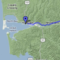 Hoquiam, Wash. Locator Map