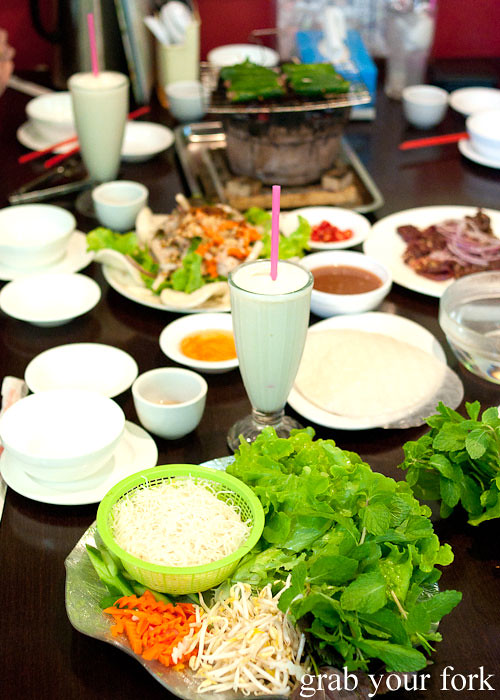 Durian shakes and Vietnamese salads at Hai Au Lang Nuong Canley Vale