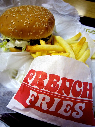 French Fries and Daisy Burger