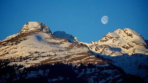 moon snow mountains sunrise switzerland day patrick liechtenstein semmler
