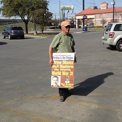 Just curious, can these guys protest legally in the post office parking lot?