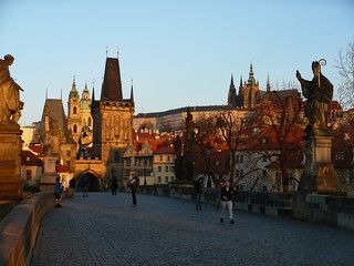 Early risers ~ Sunrise on the Charles Bridge