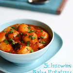 schezwan baby potatoes