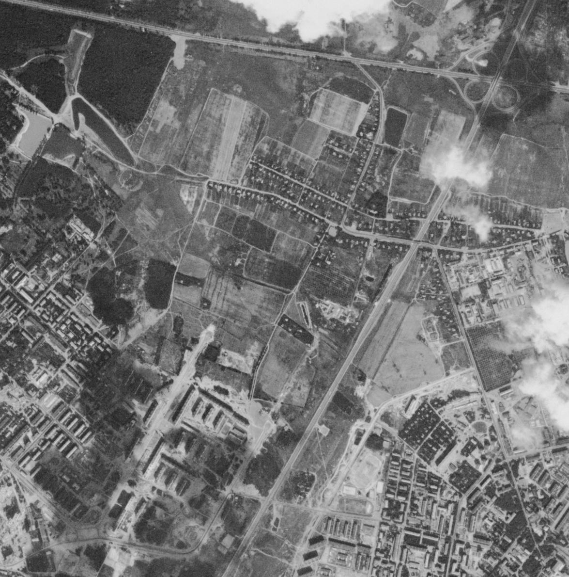 Москва, район Ивановское, космоснимок 1967