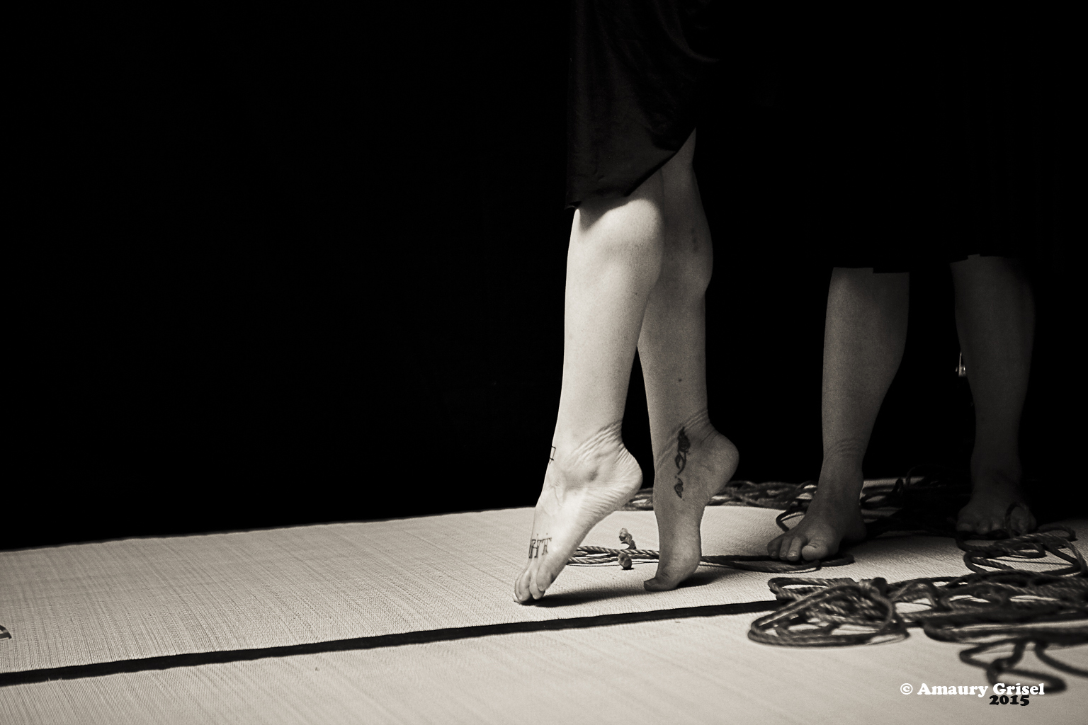 Shibari performance in Paris by Gestalta and Gorgone
