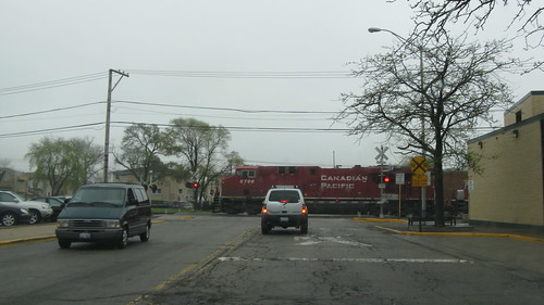 Eastbound Canadian Pacific transfer freight train. Elmwood Park Illinois USA. Saturday, March 24th, 2012. by Eddie from Chicago