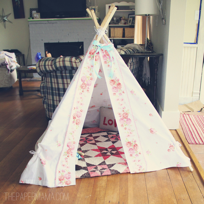 The new teepee. - The Paper Mama