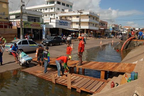 Pontes construídas na Av Tapajós Foto Ronaldo Ferreira