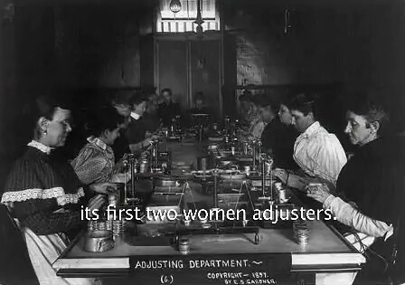 Mint women adjusters 1850s