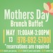 Mother's Day Brunch Buffet at The Outlook Restaurant and Lounge