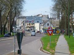 Entering downtown Saint-Cyr