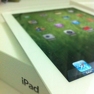 - My new toy (The New iPad). It's amazing. Really. -