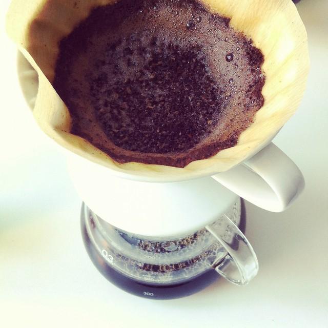 Kaffeefilter von oben
