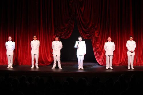 Disney Fantasy crew on stage