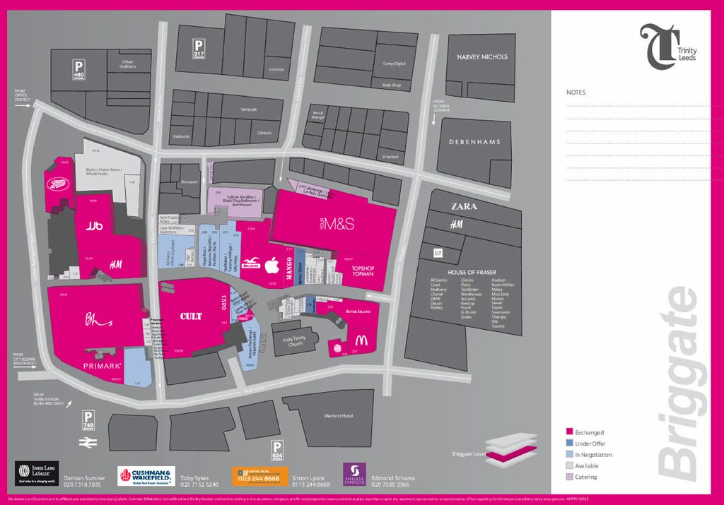 Trinity Leeds Map Trinity, Leeds | 1m sq ft retail development | Completed 2013  Trinity Leeds Map