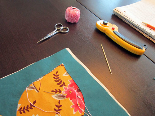 Handstitched class... projects in progress!