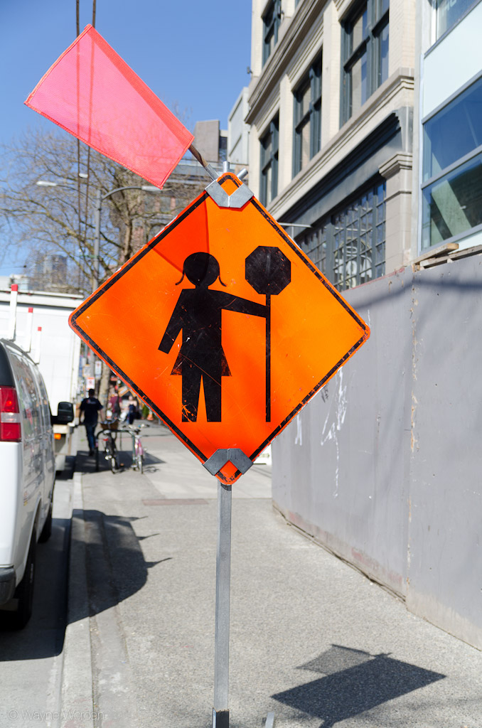 Female Flaggers Ahead