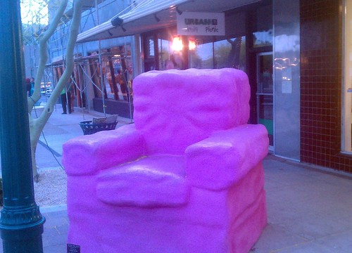 Big Pink Chair In Mesa