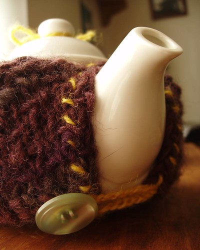 purple teapot sweater
