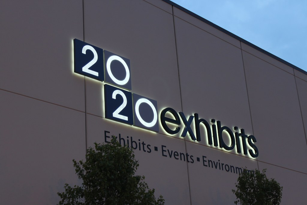 Backlit halo lit letters for 2020 exhibits in Chicago