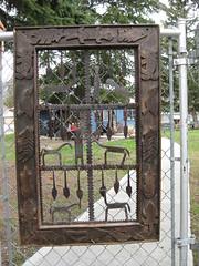 Frame on a gate