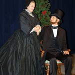 Karen MacDonald as Mary Todd Lincoln and Ken Cheeseman as President Abraham Lincoln in the Huntington Theatre Company Production of Paula Vogel's A Civil War Christmas: An American Musical Celebration,î playing at the BU Theatre. Part of the 2009-2010 season.