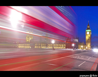 The Palace of Westminster and The Red Bus